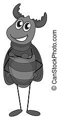 Beetle - Doodle of beetle bug standing alone