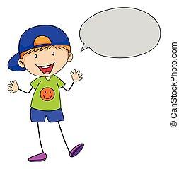 Boy talking - Boy speaking with speech bubble