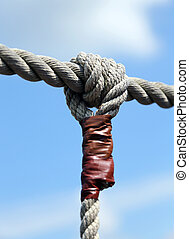 rope with big node and the blue sky