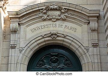 入口, 大学, パリ,  sorbonne, フランス, 歴史的