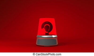 Jumping Red Warning Light On Red Background