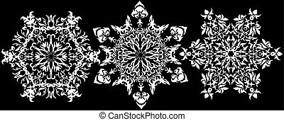 Christmas vector set snowflake