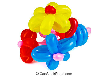 Inflatables balloons - Jocular bouquet of flowers made of...
