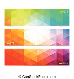 Modern Colorful Set Of Vector Banners For Your Design