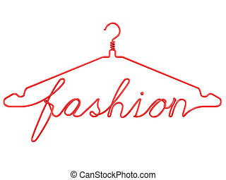 Red wire clothes hangers FASHION - Red wire clothes hangers...
