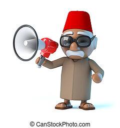 porte voix, marocain,  3D