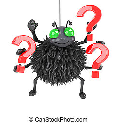 3d Spider has a question or two - 3d render of a spider...