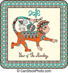 Year of The Monkey - original design for new year...