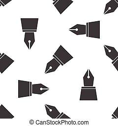 Ink pen nib pattern