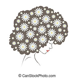 abstract  tender flowers hair - Ill