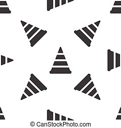 Traffic cone pattern - Image of traffic cone, repeated on...