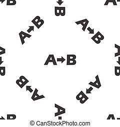 A to B pattern - Letters A, B and arrow between, repeated on...