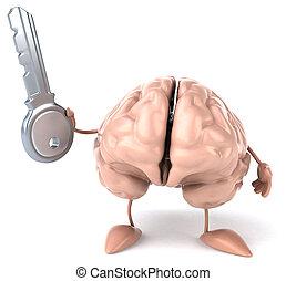 divertimento, cérebro,