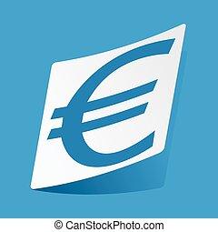 Euro sticker
