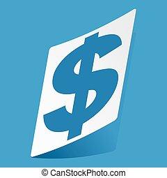 Dollar sticker