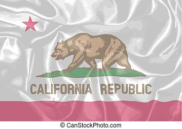 Silk Flag of the State of California