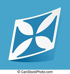 Maltese cross sticker - Sticker with maltese cross, isolated...