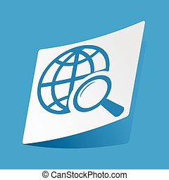 Global search sticker