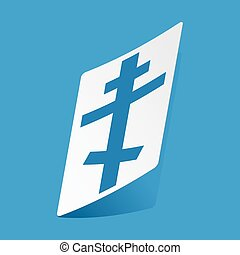 Orthodox cross sticker - Sticker with orthodox cross,...