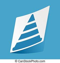 Traffic cone sticker - Sticker with traffic cone icon,...