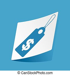 Dollar price sticker - Sticker with dollar price icon,...