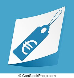 Euro price sticker - Sticker with euro price icon, isolated...