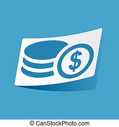 Dollar rouleau sticker - Sticker with dollar rouleau icon,...
