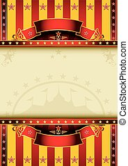 Big circus - A circus poster with a large frame for your...