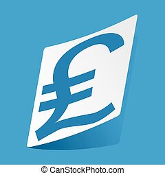 Pound sterling sticker - Sticker with pound sterling symbol,...