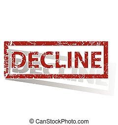 DECLINE outlined stamp