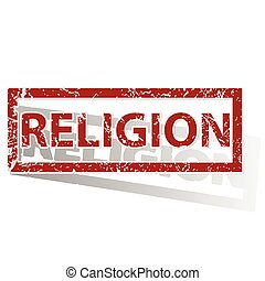 RELIGION outlined stamp