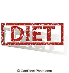 DIET outlined stamp