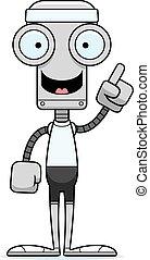 Cartoon Fitness Robot Idea - A cartoon fitness robot with an...
