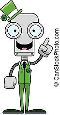 Cartoon Irish Robot Idea