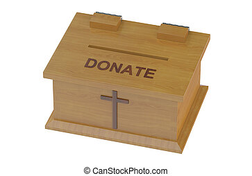 Church Donation Box isolated on white background