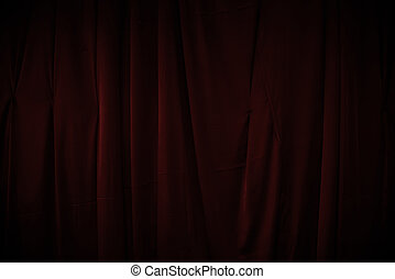 curtain or drapes dark red background