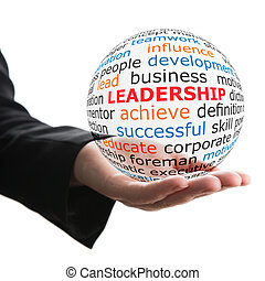 Transparent ball with inscription leadership - Concept of...