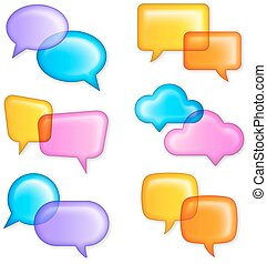 Vector Colorful chat bubbles - Colorful shaded chat bubbles...