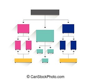 Flow chart. Simply editable without text. Infographics element.