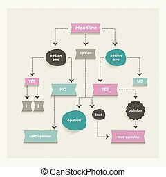Flow chart diagram, scheme Infographic algorithm element -...