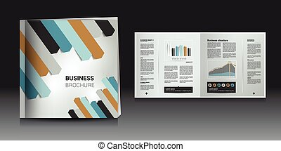 Brochure, annual report layout template. - Brochure, report...
