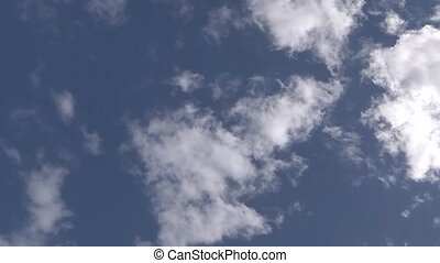 cumulus white cloud time lapse - cumulus white cloud against...