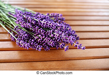 Lavender - Bunch of lavender flowers on the table