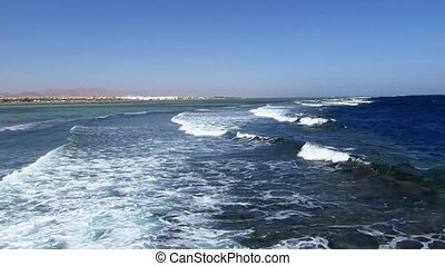 Sea wave on the Red Sea in Sharm El-Sheikh