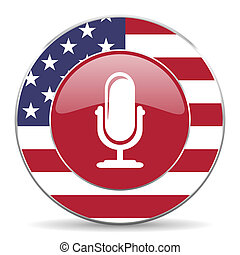 microphone american icon  - american icon