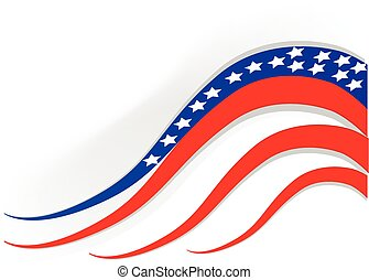 Flag USA Independence day background. Vector illustration...