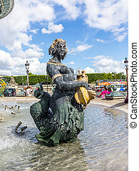 Fountain on Place Concorde - Fountain (designed by...