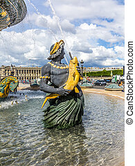 Fountain on Place Concorde - Fountain designed by...