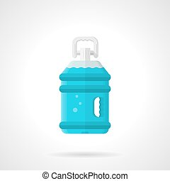 Bottled water flat vector icon - Flat color style vector...