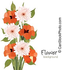 Flower summer background. Vector.